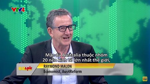 Raymond Mallon, Advisor of Australia supports Vietnam's economic reform Program (Aus4Reform Program)