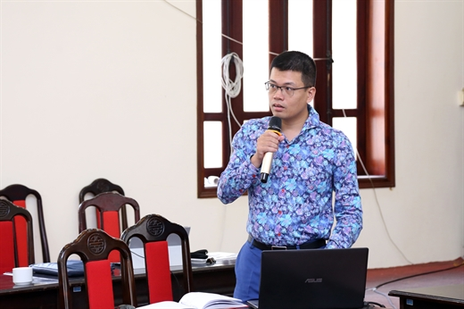 Nguyen Anh Duong, Head of Macroeconomics Department (CIEM) speaking at the workshop