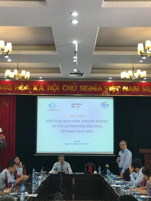 Associate Professor Ph.D Tran Dinh Thien, former Director of CIEM said at the workshop