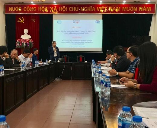 Ông Phan Đức Hiếu, Phó Viện trưởng CIEM phát biểu tại Hội thảo